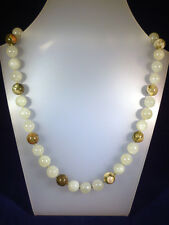 """10mm Jade and Rhyolite bead necklet, length approx 18"""""""