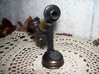 Antique Telephone Metal Pencil Sharpener