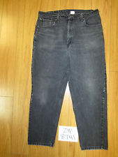 Used 550 relax fit tapered leg black levi's jean tag 38x30 meas 35x29 zip8741