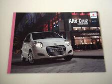 Suzuki . Alto . Suzuki Alto Cruz . 2010 Sales Brochure