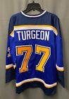 Pierre Turgeon #77 Signed St Louis Blues Jersey Autographed XL DACardworld COA