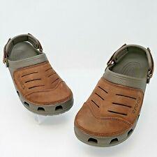 Crocs Mens Yukon Vista Espresso Brown Strap Water Clogs Shoes Size US 8
