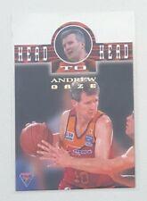 1995 Futera NBL Australian Basketball Head To Head #H2H1 Andrew Gaze / Lucas