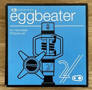 Brand NEW Crankbrothers EggBeater 2 Clip-In Mountain Bike Pedals - Silver