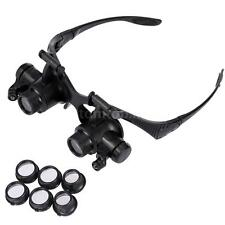 10X 15X 20X 25X Binocular Loupe Glasses Magnifier Watch Repairing Tool US Q8F2