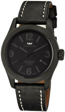 Glycine Incursore Automatic PVD Coated Steel Mens Strap Watch Calendar 3874.999