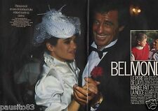 Coupure de presse Clipping 1986 Jean Paul Belmondo marie sa fille (6 pages)