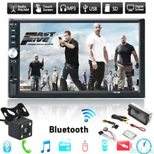 """7"""" Car GPS Nav Double 2 Din Android Bluetooth Stereo MP3 MP4 MP5 Player FM Radio"""