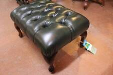 A High Quality Australian Made 100% Cow Leather Chesterfield Foot Stool