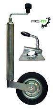 Anhänger Stützrad 48mm mit Klemmhalter 150kg Metallrad 200x50 Vollgummireifen