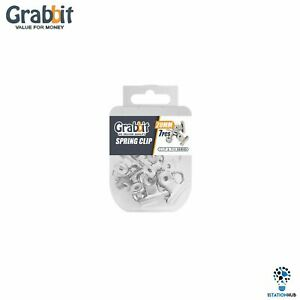 Grabbit Silver Spring Clip 20mm | Home Office School Stationery Accessories