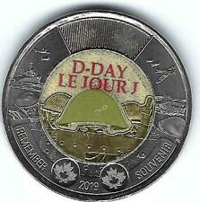 2018 Canadian Brilliant Uncirculated $2 Colored D-Day!