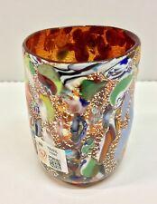 Goto ( bicchiere ) ROSSO in vetro di Murano Coriandoli
