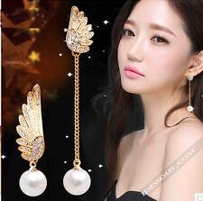 Designer Gold Ohrringe 1 Paar Perlen Ohrhänger Damen Mode Ohrstecker Asian Style