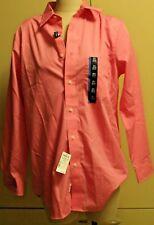 Croft & Barrow Dress Shirt DK Pink Sz 15 1/2 32/33 Classic Fit MSRP $32 Now $20