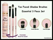 Too Faced Shadow Brushes Essential 3 Piece Set Cruelty-Free Teddy Bear Hair NISP