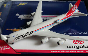 Gemini GJCLX1896 Boeing 747-8F interactive Cargolux LX-VCA 1:400