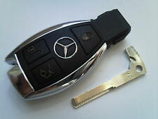 Genuine Mercedes Benz Classe E S C SLK CLK COUP VITO etc 3BT remota non tagliata portachiavi
