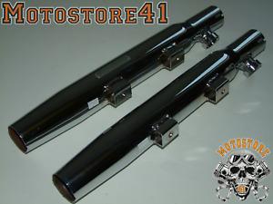 """Harley Davidson FLST FXST Auspuff Mufflers Taper 2+"""" Sound Control Endtopf"""