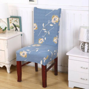 Polyester Seat Cover Chair Pad Cover Floral Dining Chair Covers Chair Cover W
