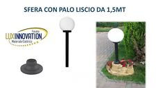LAMPIONE LAMPADA DA ESTERNO LAMPIONCINO  CON BASE COMPLETO DI PALO SFERA OPACA