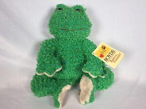 Boyds Bears Plush Mr Ribbit Cuddle Fluff Fabric Green Baby Frog 970144 (NEW)