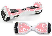 ROSA Swirly Cuori Adesivo / Pelle Hoverboard / BALANCE BOARD hov37