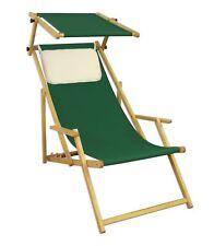 Lit Soleil Chaise de Jardin Vert Plage Longue Bois Meubles 10-304 N Skh