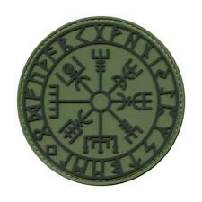 Vegvisir Viking Compass PVC Rubber Olive Drab Green Tactical Morale Hook Patch
