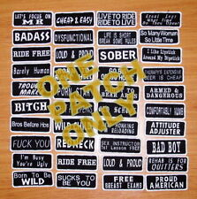 One Custom  Biker Vest Patch - Your Words or Saying, motorcycle,club,name,MC