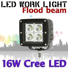 16W Flood CREE LED Work Light Lamp White 12V 24V ATV Boat JEEP Truck SUV 4WD