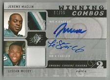 LeSean McCoy & Jeremy Maclin 2009 SPX COMBOS ROOKIE AUTO SWATCH #/15 SIGNED RC