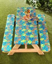 3-Pc Picnic Table Bench Cover Set Elasticized Edges Snug Fit In Flip Flop Design