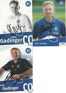 3 x AK - Karlsruher SC KSC - PETER GADINGER - original signiert