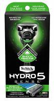 Schick Hydro 5 Sense Sensitive Skin Shock Absorb Razor 1 Handle & 2 Cartridges g