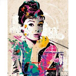 Beauty DIY Mosaic Diamond Art Painting 5D Full Drill Cross Craft Audrey Hepburn