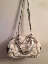 Coach Women Hand Bag 1171  in Beautiful Beige And Gray Straps