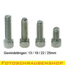 """SET 4 x 1/4""""- Edelstahl-Fotoschrauben, Zylinderkopf, (Stativgewinde, Foto)"""