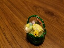 Small Green Easter Basket A for Barbie, Monster High Doll Diorama