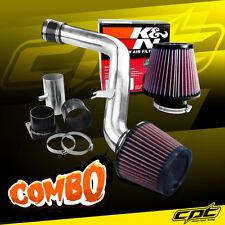 Polish Cold Air Intake + K&N Air Filter For 02-06 Altima 3.5L V6