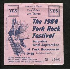 1984 York Rock Festival Echo Bunnymen Sisters of Mercy Concert Ticket Stub