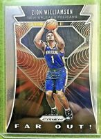 ZION WILLIAMSON PRIZM ROOKIE CARD JERSEY #1 Far Out Card 24 2019-20 Panini Prizm