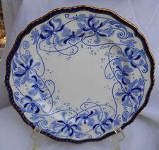 ROYAL DOULTON BURSLEM BLUE WHITE GOLD CABINET PLATE S COBALT RA2866 RARE ENGLAND
