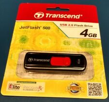 New TRANSCEND JETFLASH 500 4GB USB 2.0 USB FLASH DRIVE.