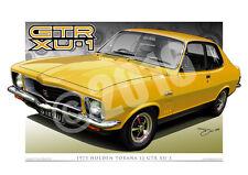 Holden LJ Torana Print - LJ GTR XU1 Car Drawing By Unique Autoart ( 18 Colours )