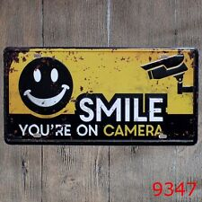 Metal Tin Sign smile on a camera Decor Bar Pub Home Vintage Retro Poster