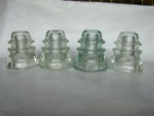 4 Hemingray-42 Clear Glass Insulators made in USA For DIY Light Lamp