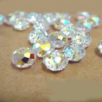Lots 20-100Pcs White AB Crystal Glass Spacer Loose Beads Jewelry Findings 4-10MM