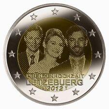 * LOT DE 5 PIÈCES -- 2 € COMM - UNC - LUX 2012 - MARIAGE PRINCIER