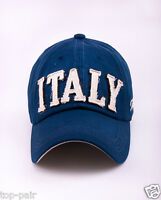M184 Blue NEW Cotton Baseball Cap Buckle-back Hip-Hop Sun Hat Letters ITALY